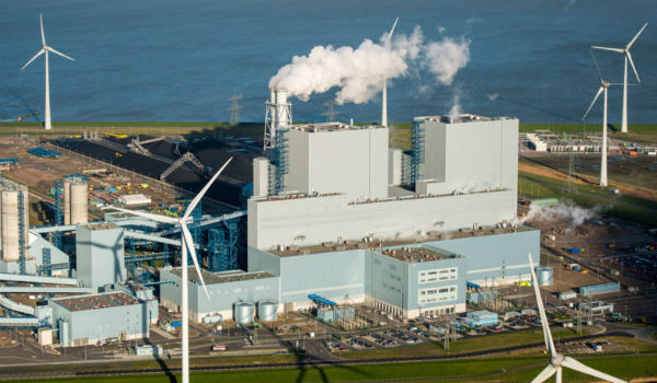 New RWE coal power plant in Eemshaven, The Netherlands