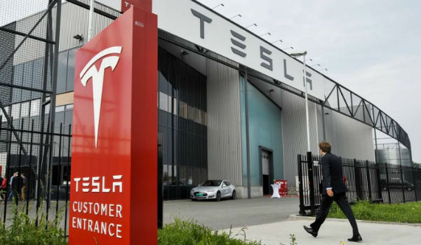 Tesla factory in Tilburg, The Netherlands