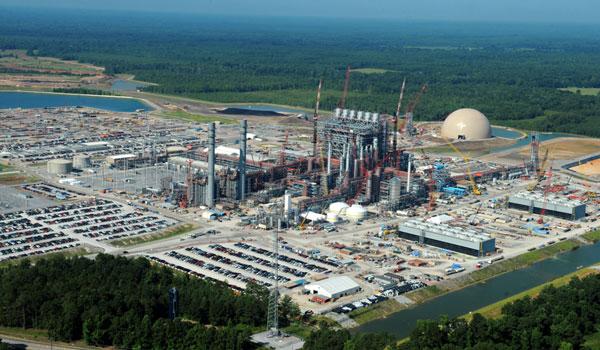 Kemper coal gasification plant under construction