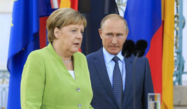 Merkel and Putin discuss Nord Stream 2